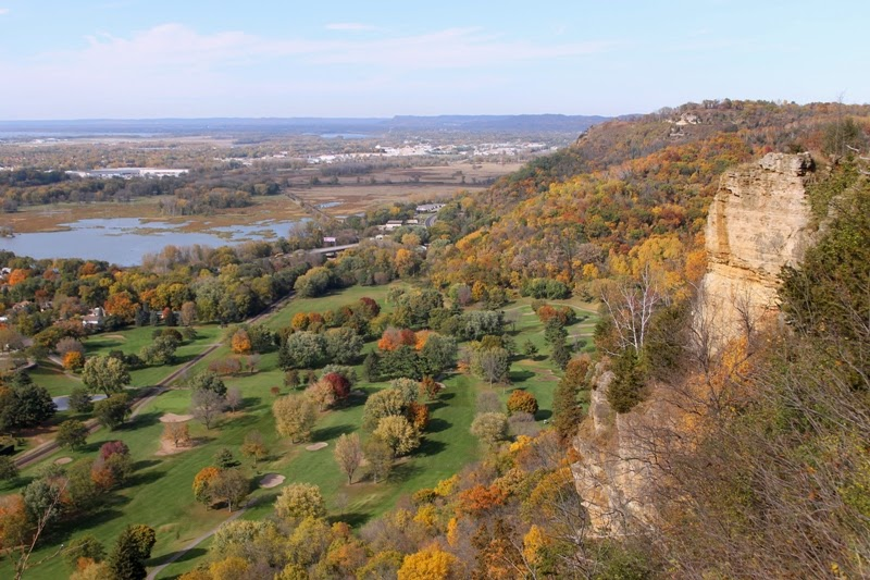 the view from Grandad Bluff Park, La Crosse, WI