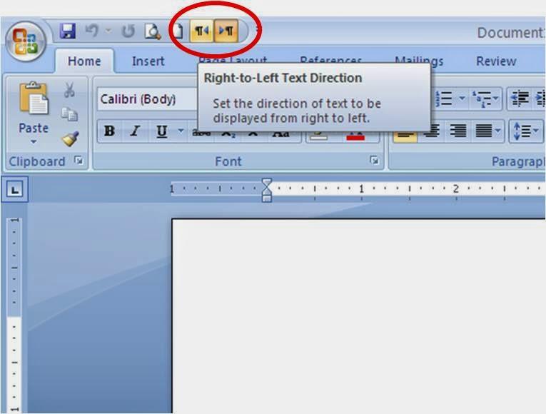 Cara Menulis dari Kanan Ke Kiri Pada Microsoft Word