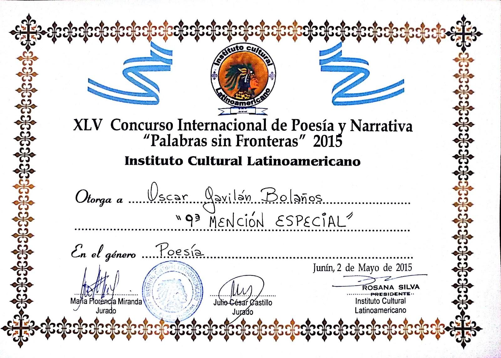 """Palabras sin fronteras 2015"""