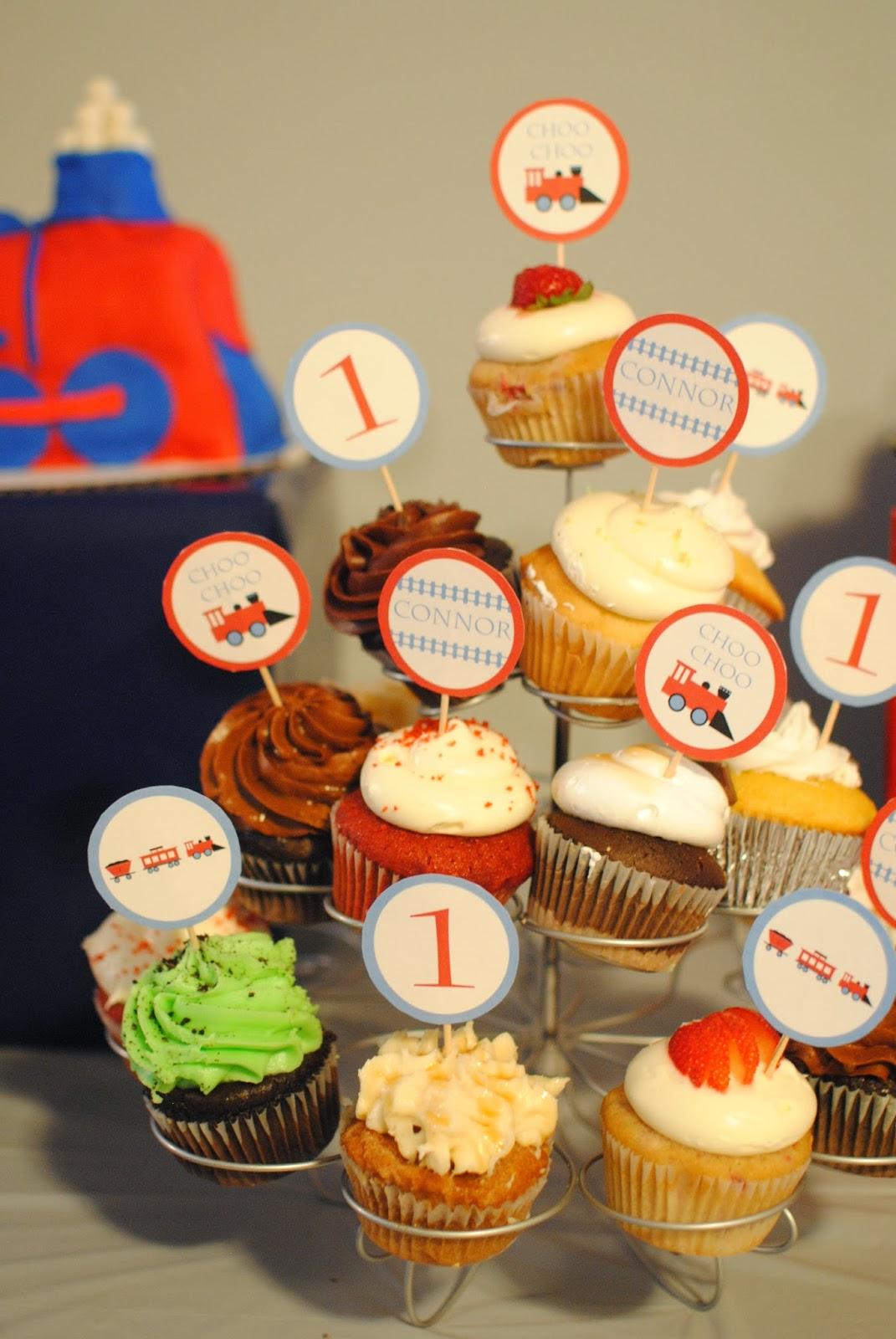 Free Printable Train Cupcake Picks