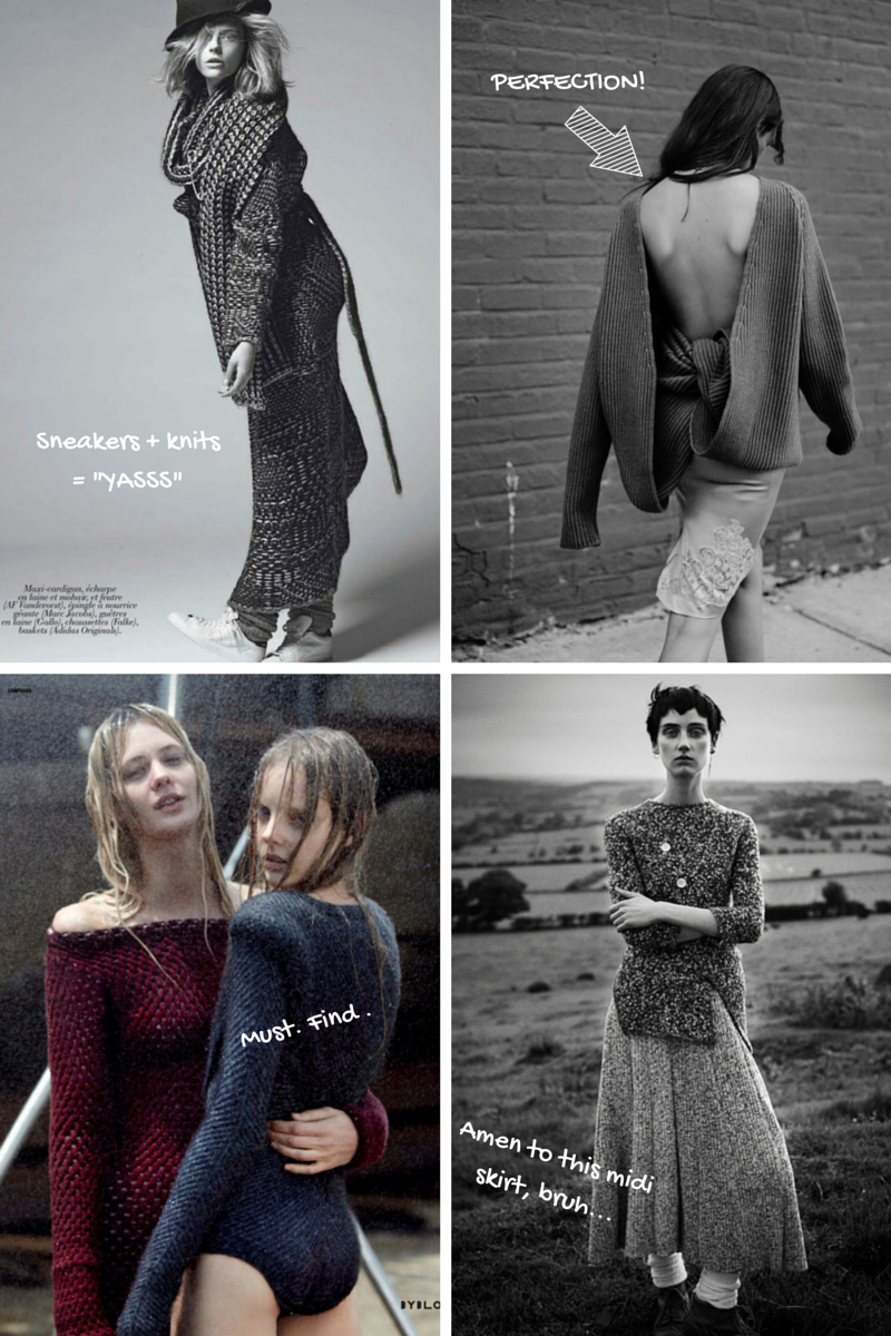 Knitwear in Marie Claire France, Rika, Dazed & Confused & Io Donna | Ses Rêveries
