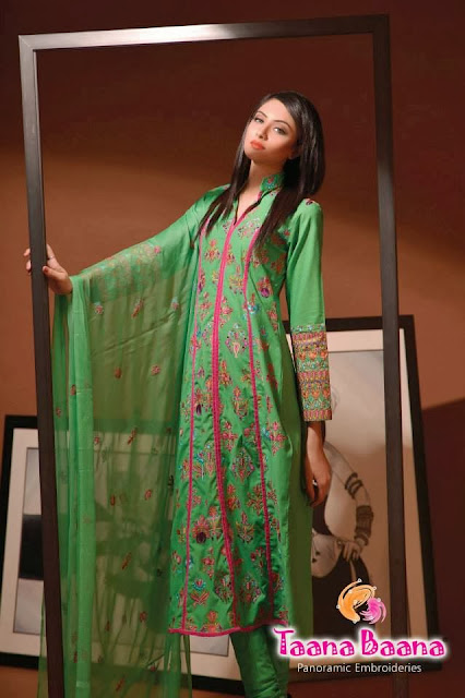Taana Baana Panoramic Embroideries Stylish Winter Collection 2013-14 For Women & Girls