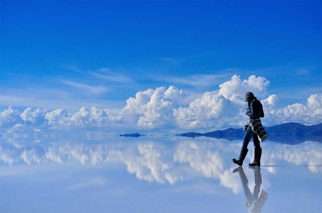 Salar de Uyuni, Bolivia, salinas reflectantes