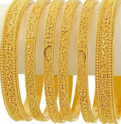 Image result for bangle set designs gold