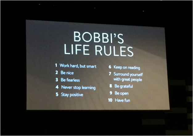 Business Chicks Bobbi Brown Luncheon Bobbi's Life Rules