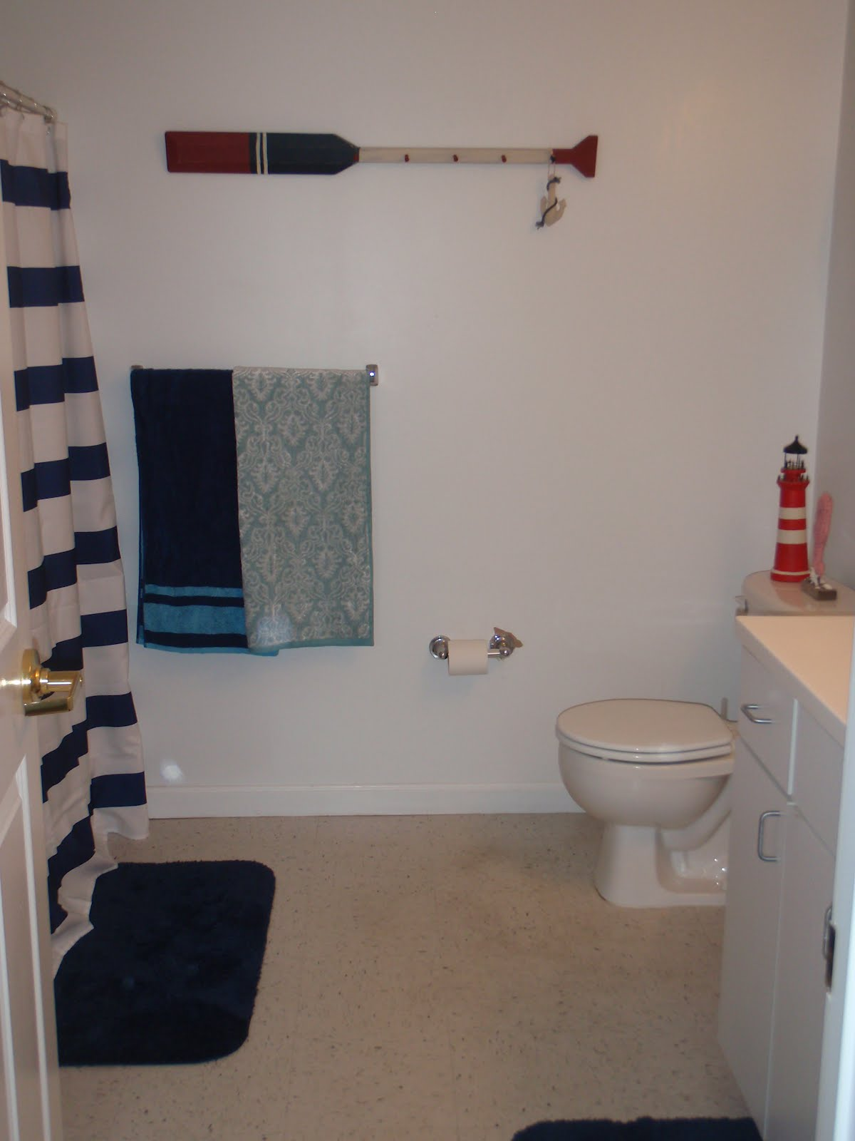 Nautical by Nature  Nautical Photo of the Week  A Nautical Bathroom. Anchor Bathroom Decor   Best Modern World Interior
