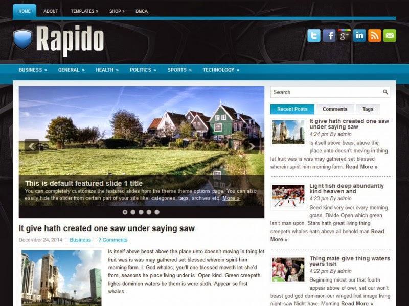 Rapido - Free Wordpress Theme