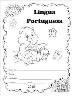 capinha de caderno portugues