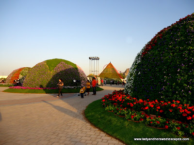 lot of domes at Miracle Garden