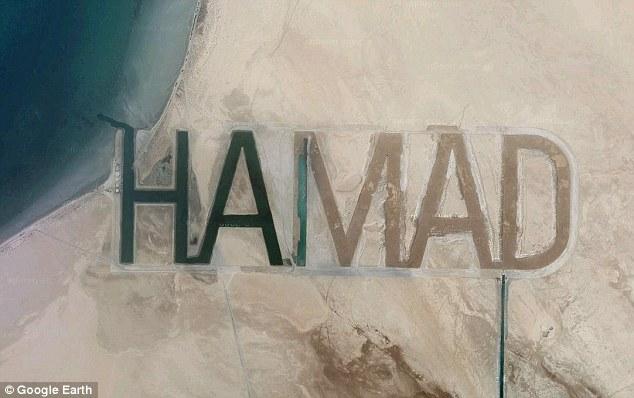 Nama Hamad orang kaya Arab nampak dari atas angkasa