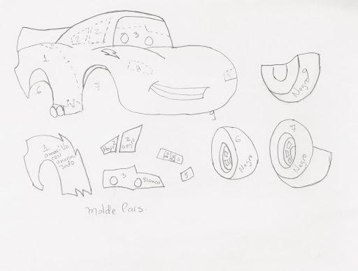 Patrones para hacer Cars en foami - Imagui