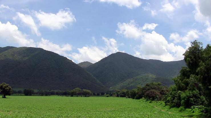 Verdes cerros de Iramuco