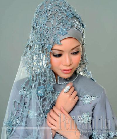 pengantin muslimah / bertudung.