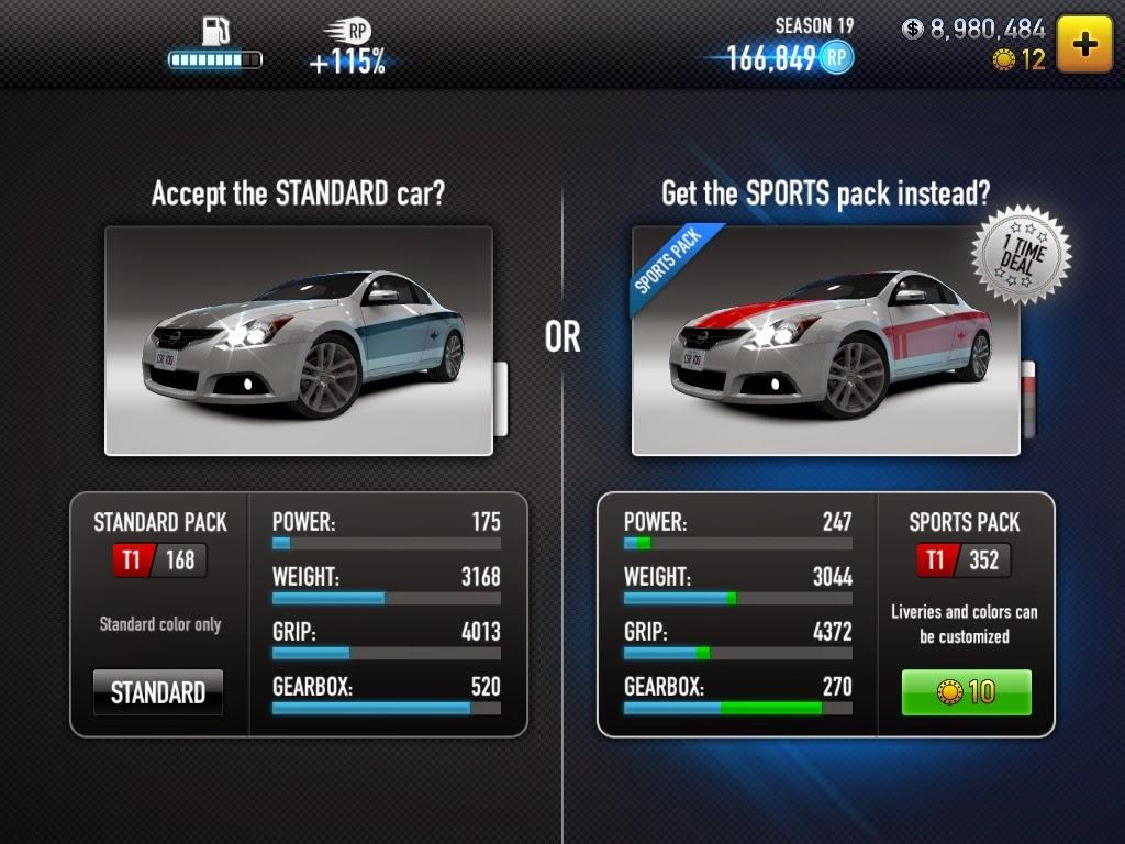 csr racing lista auto pro  My-Rome