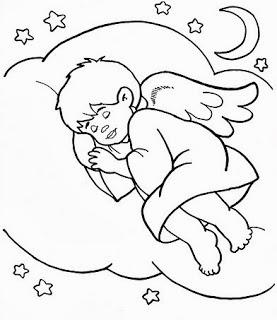 anjinho dormindo na nuvem