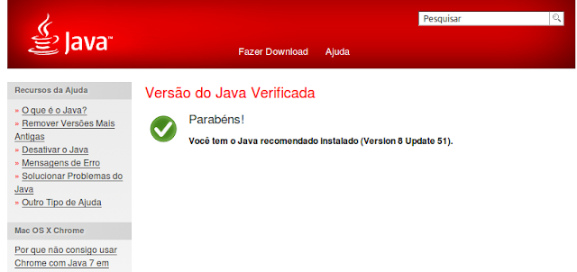 Verificando o Java