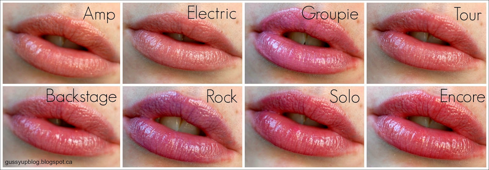 Lorac, Rockin' Red Hot Limited Edition 8 Mini Lip Gloss Collection, Swatches