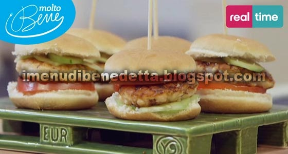 Mini Hamburger di Salmone di Benedetta Parodi