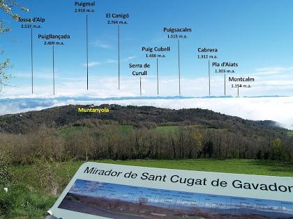 Panoràmica cap a llevant des del Mirador de Sant Cugat de Gavadons