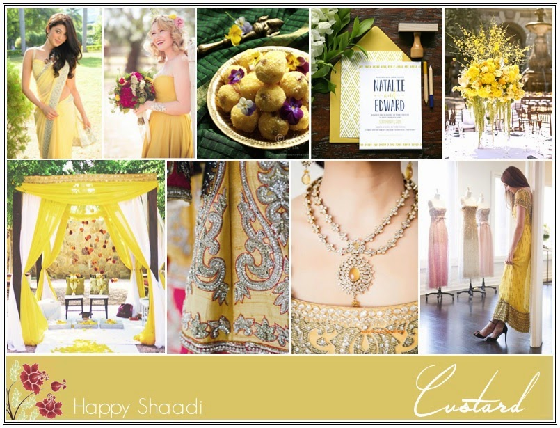 Custard yellow indian wedding inspiration board