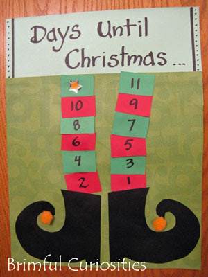 Brimful Curiosities Elf Christmas Countdown Calendar Craft