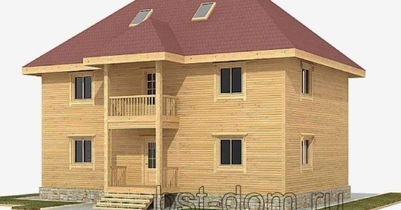 Проекты деревянных домов из клееного бруса под ключ в