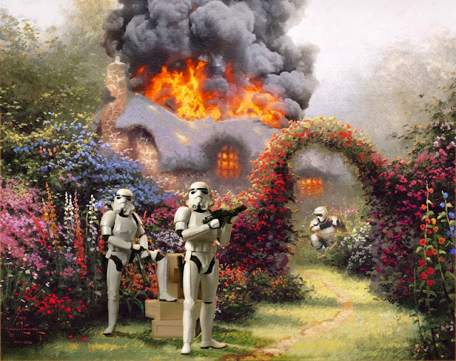 Thomas Kinkade with Star Wars Improvements