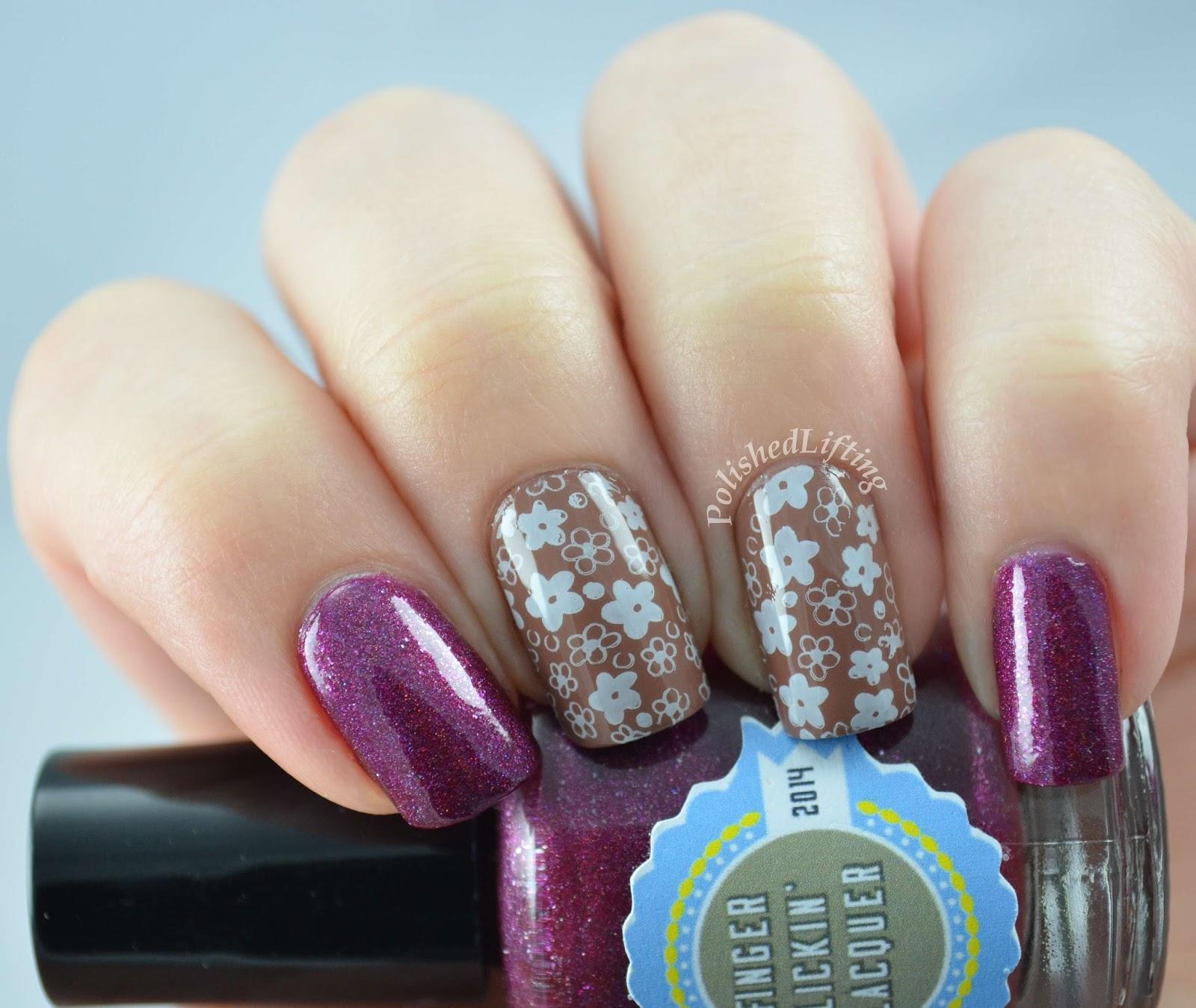 Finger Lickin' Lacquer custom Crimson Flakes Zoya Chantelle Sinful Colors Snow Me White
