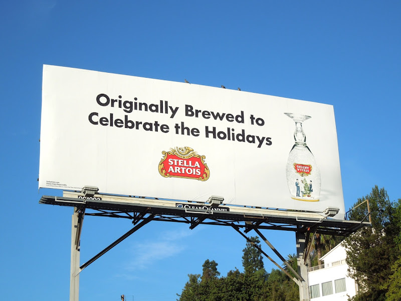Stella Artois Celebrate Holidays billboard