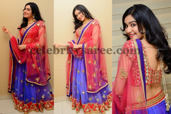 Adah Sharma Purple Lehenga