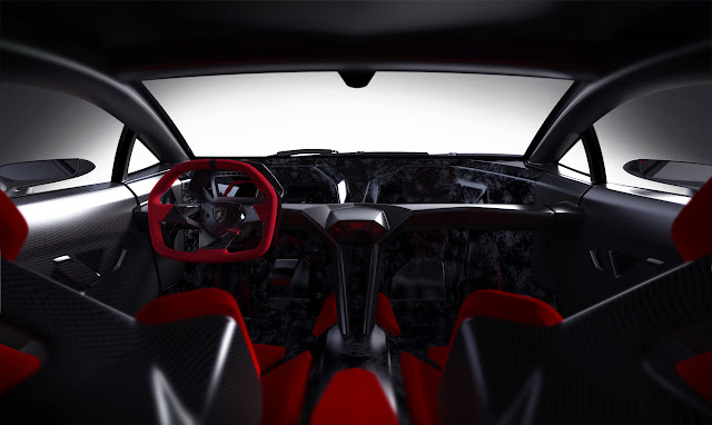 Lamborghini Concept Sixth Element Carbon Fiber Interior Cockpit