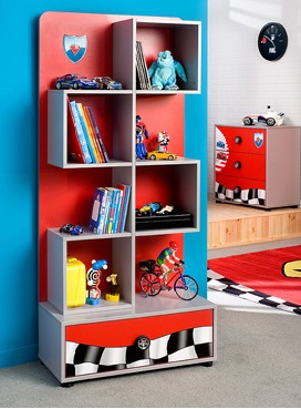 Vintage home estanter as cuartos infantiles - Estanterias guardar juguetes ...