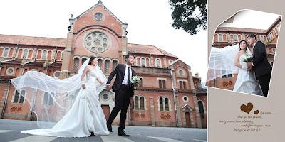 chụp hình cưới đẹp ở nhà thờ Đức Bà