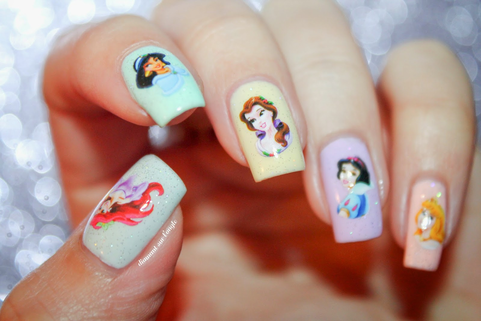 A Disney Princess Nail Art