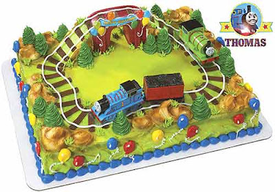 Boys Birthday Thomas the tank engine and Percy cake decorating kit Island of Sodor railway tunnel