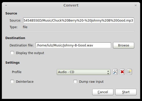 VLC convert