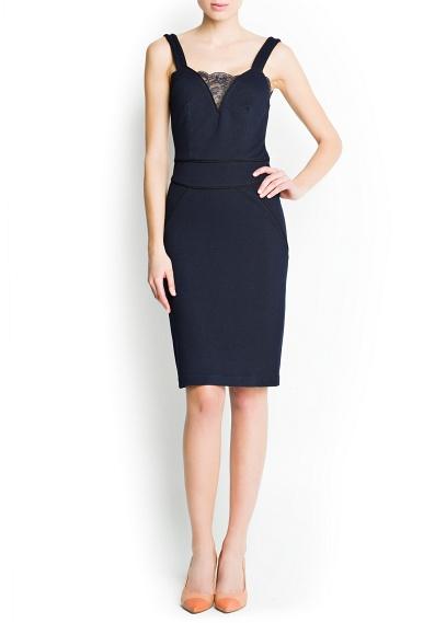 v yaka elbise modeli siyah renk