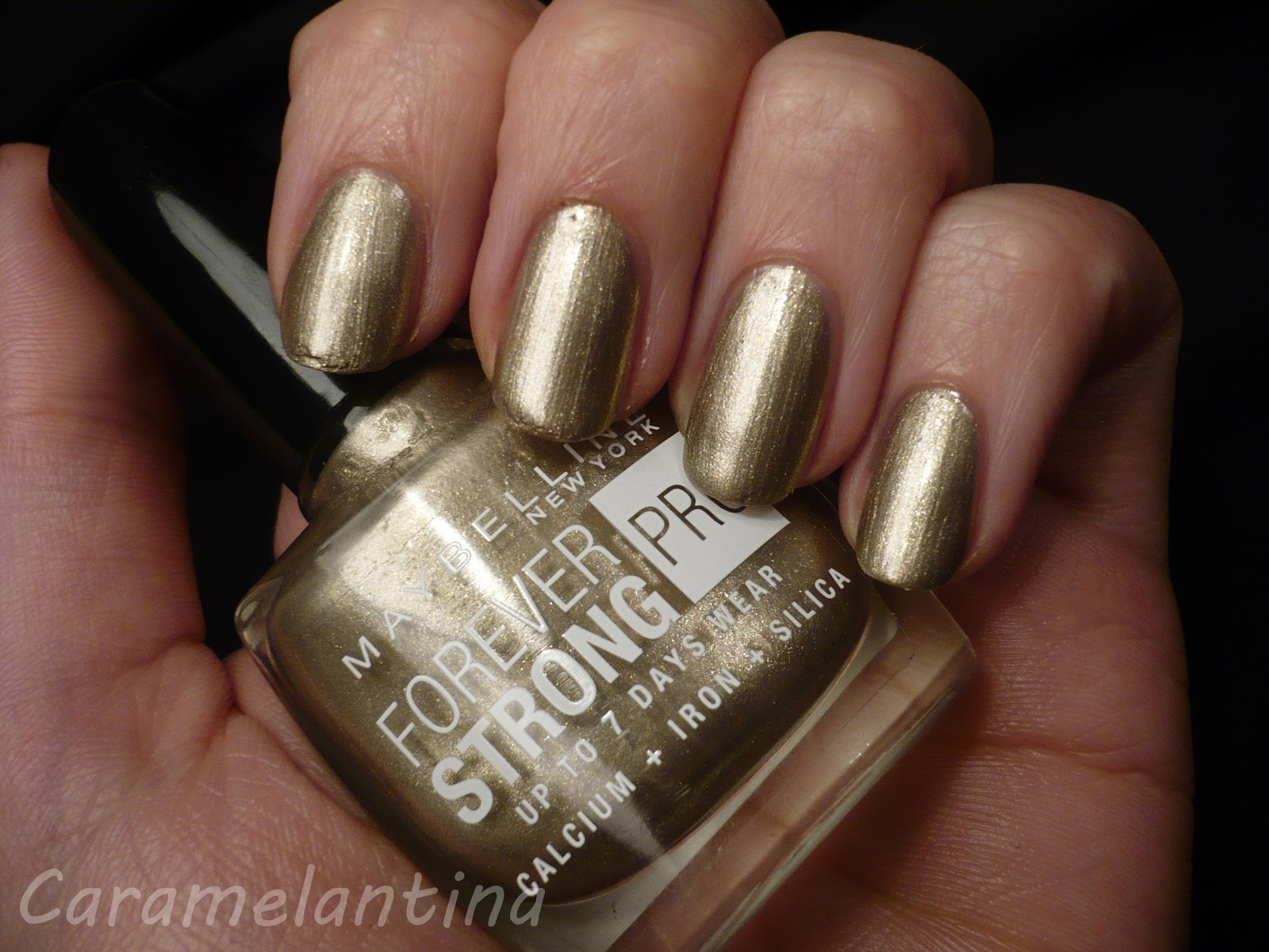 Maybelline Gold All Night swatch review