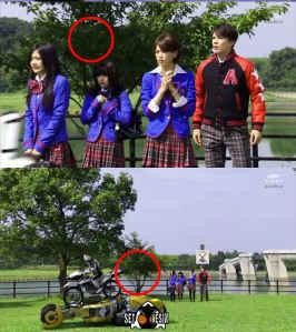 Oops!! Banyak Kesalahan Pengambilan Adegan Kamen Rider