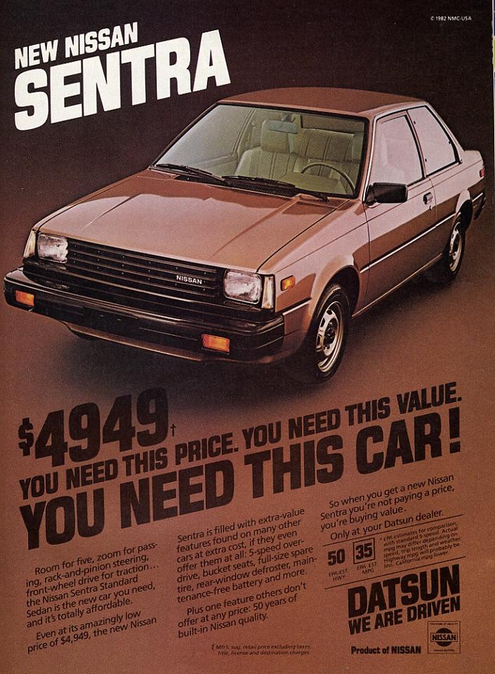 1982 Nissan Sentra  sentranissanblogspotcom