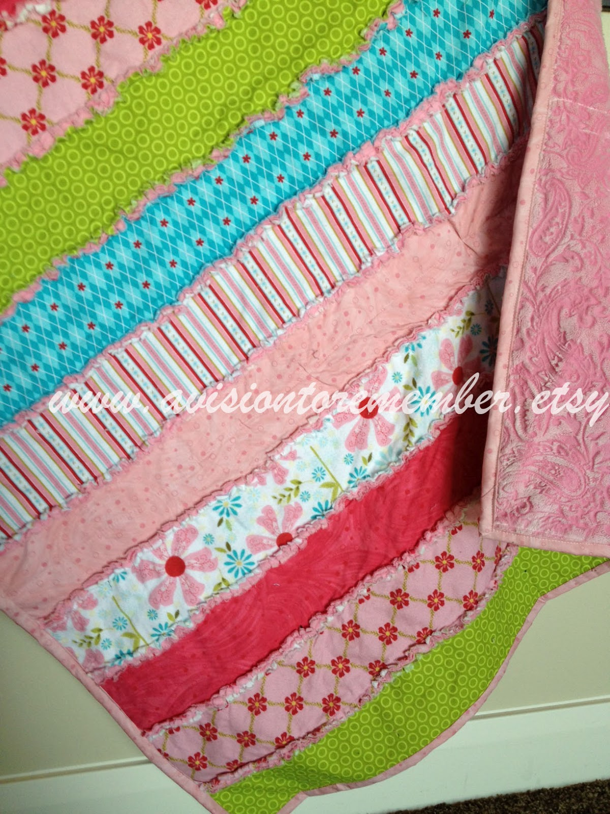Strip Rag Quilt Free Pattern By A Vision To Remember A Vision To