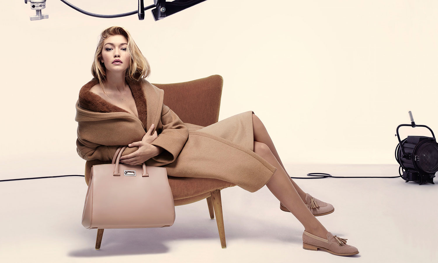 Gigi Hadid in Max Mara Fall/Winter 2015 campaign photographed by Anthony Maule
