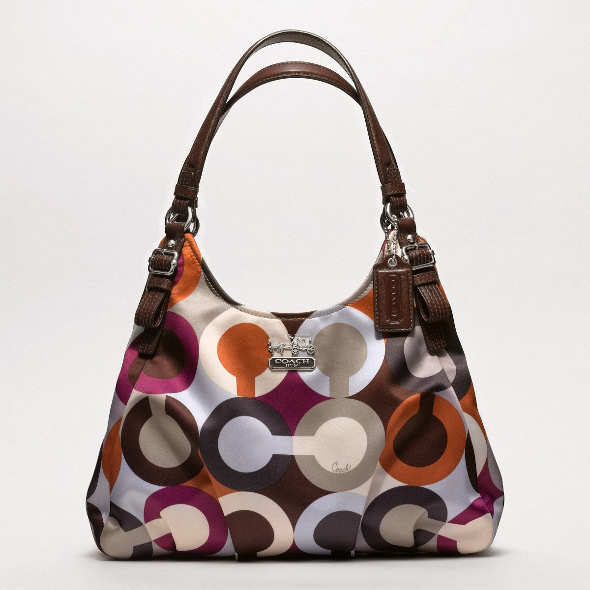 My Coach Madison Graphic Op Art Metallic Maggie Bag