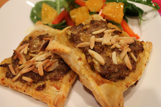 Moroccan lamb tarts and sausage rolls