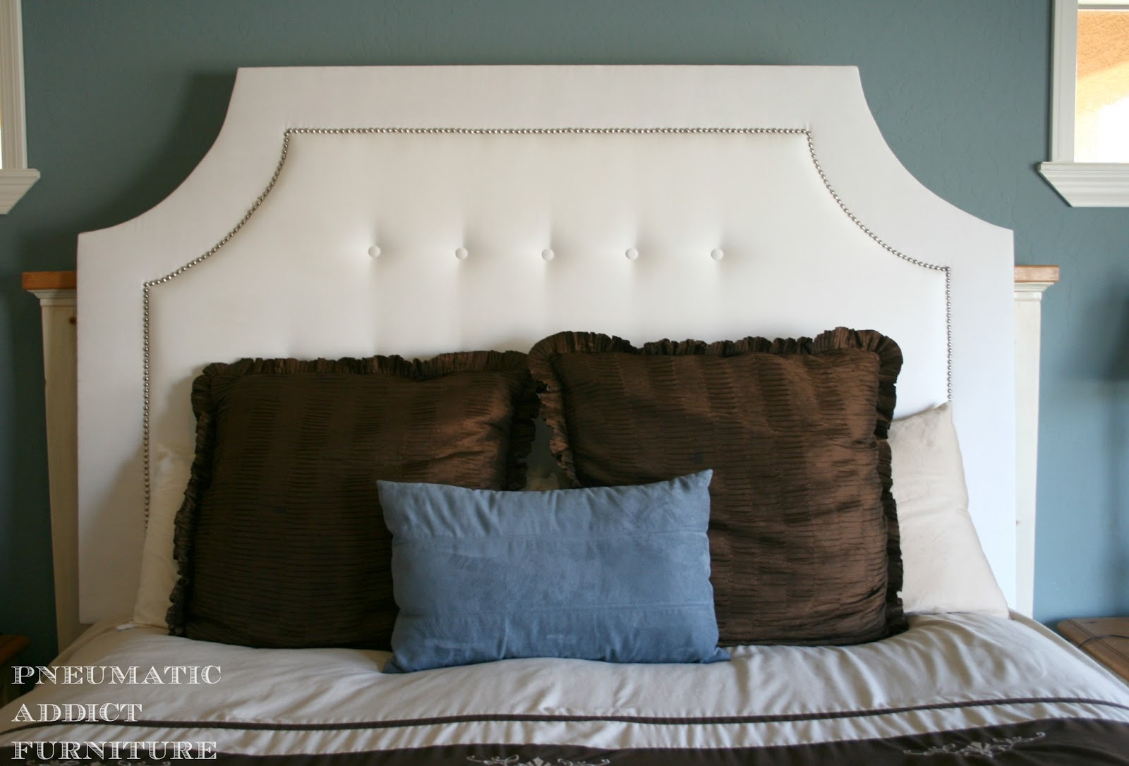 Pneumatic addict a different headboard tufted the easy way for Different headboards for beds