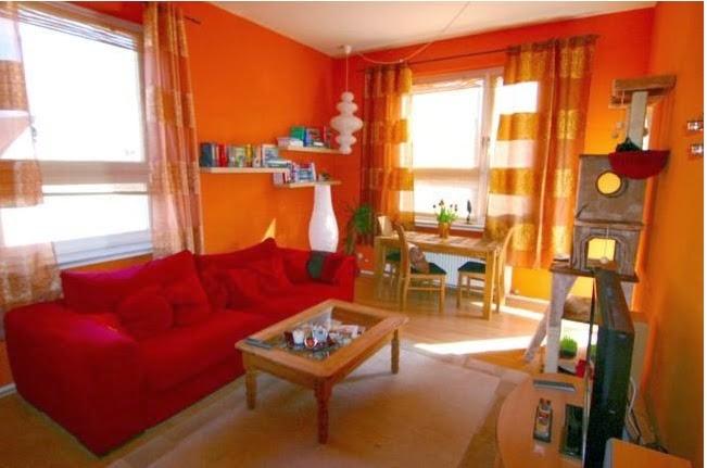 Wohnzimmer In Orange Streichen : Dise u00f1o de sala de ...