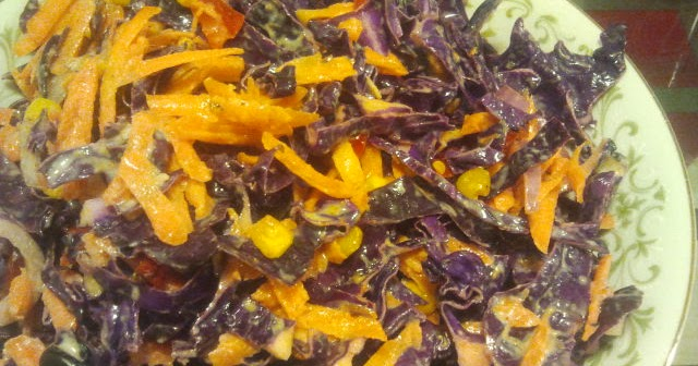 Carpe Cibus: Roasted Corn and Red Cabbage Slaw