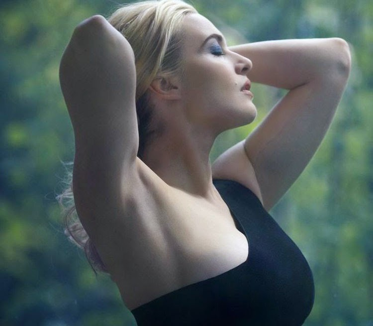 Hot Kate Winslet in Black Dress