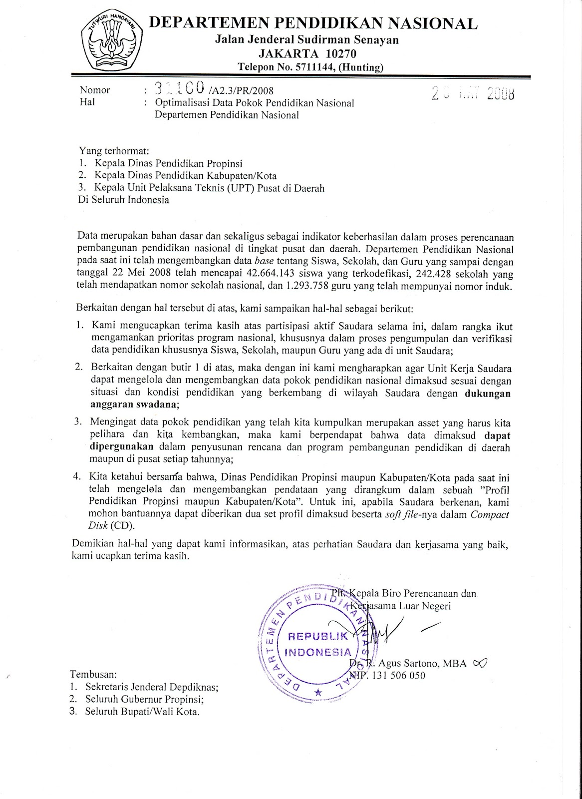 contoh surat dinas resmi terbaru ke 10