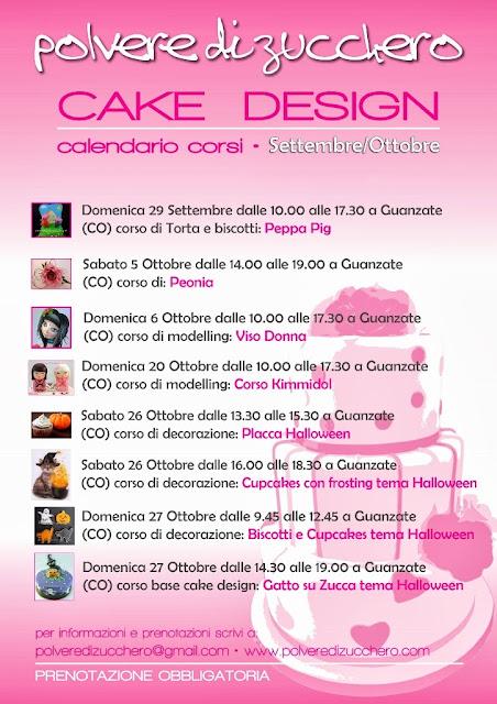 corsi di cake design, calendario autunnale: decorazione torte, biscotti, cupcakes, fiori di zucchero, modelling, ghiaccia reale e tanto altro